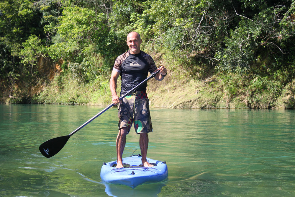 Stand up paddle the rapids
